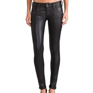 Citizens of Humanity - Black Coated Skinny Jeans